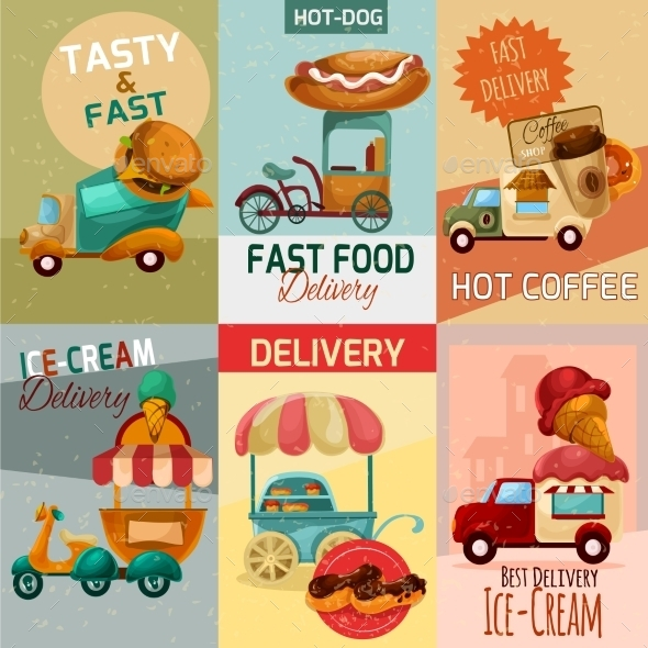 GraphicRiver Fast Food Delivery Posters 11892025