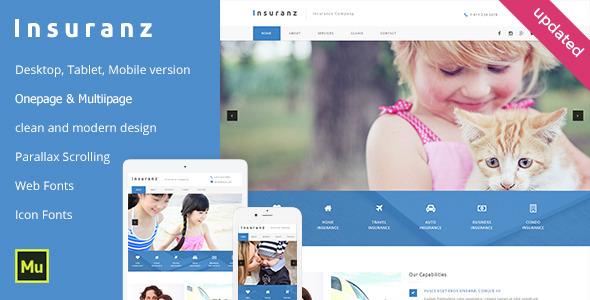 Insuranz - Insurance Services Template