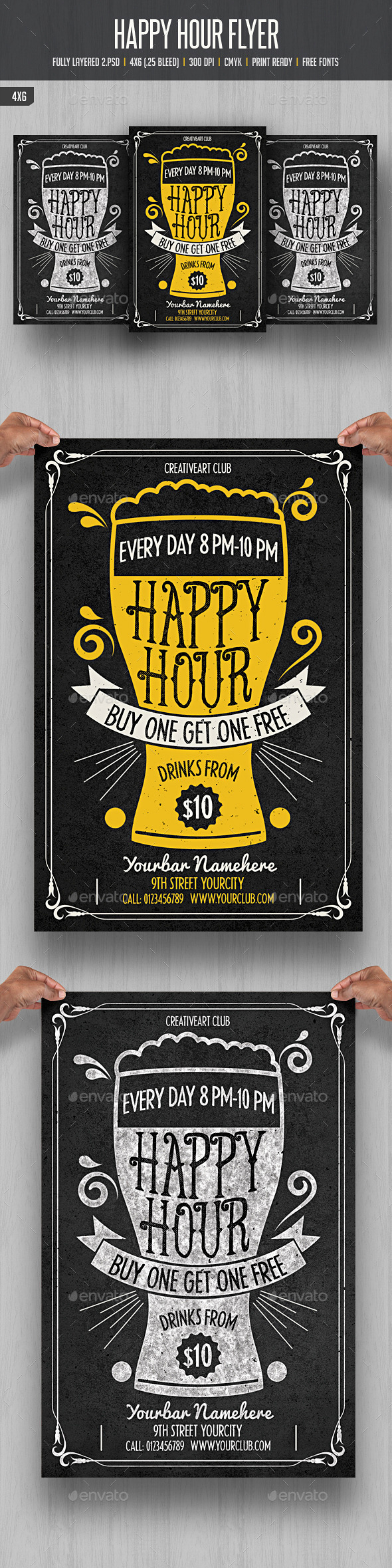 GraphicRiver Happy Hour Flyer 3 11892199