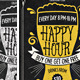 Happy Hour Flyer 3 - GraphicRiver Item for Sale