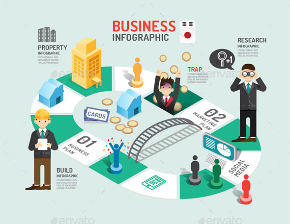 GraphicRiver Business Board Game Concept Infographic 11892204