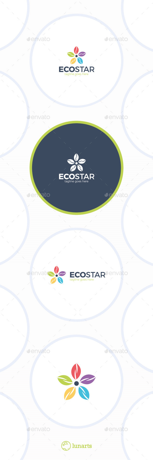 GraphicRiver Eco Star Logo Colorful Flower 11892376