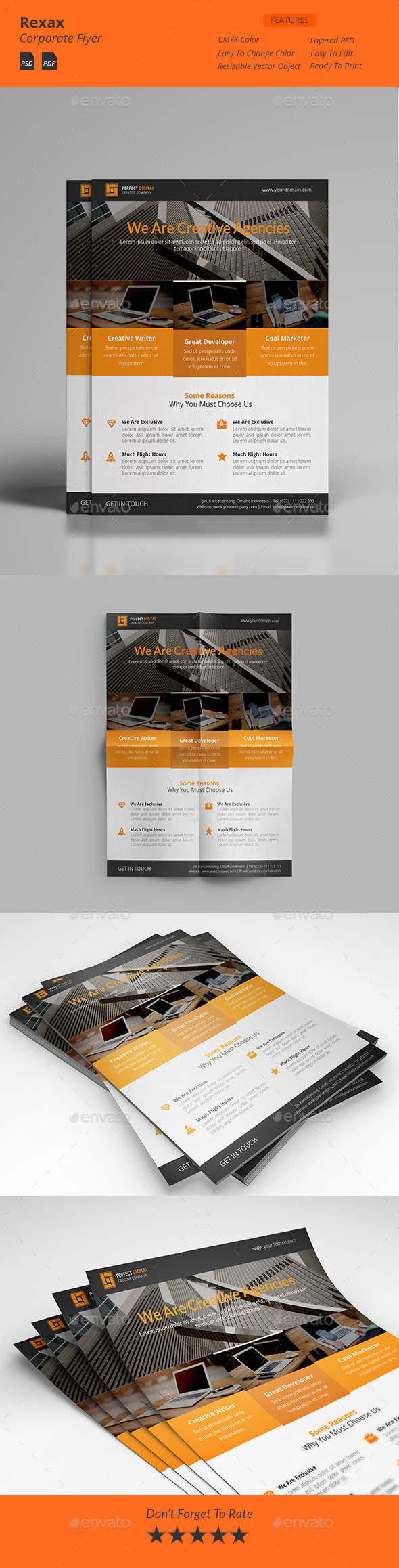 GraphicRiver Rexax Clean Corporate Flyers 11892898