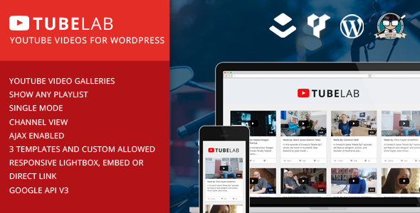 CodeCanyon Tubelab YouTube plugin for WordPress 11893018