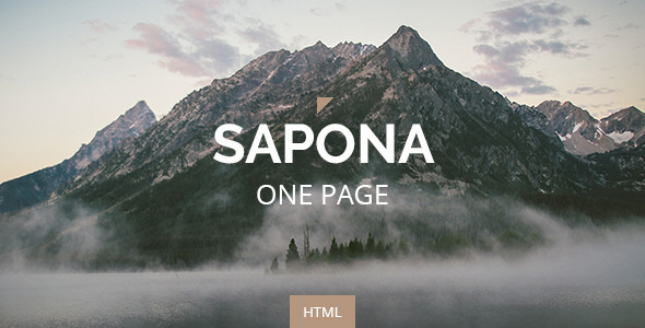 ThemeForest Sapona One Page Responsive Corporate Template 11893068