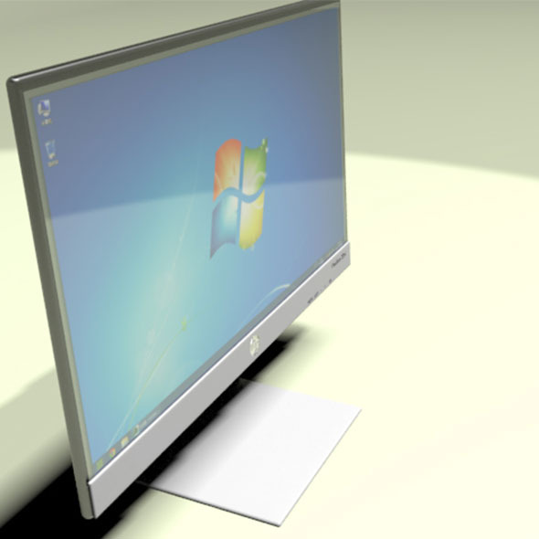 Hp Screen Pavilion 22xi 3D Model - 3DOcean Item for Sale