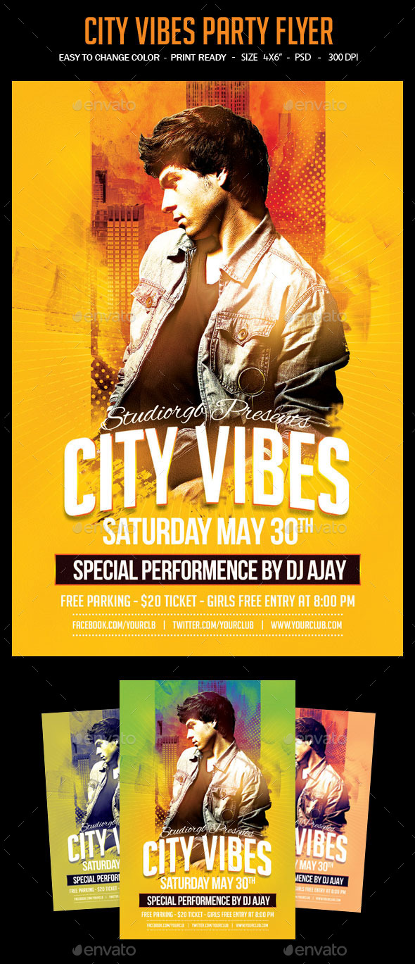 GraphicRiver City Vibes Party Flyer 11893444