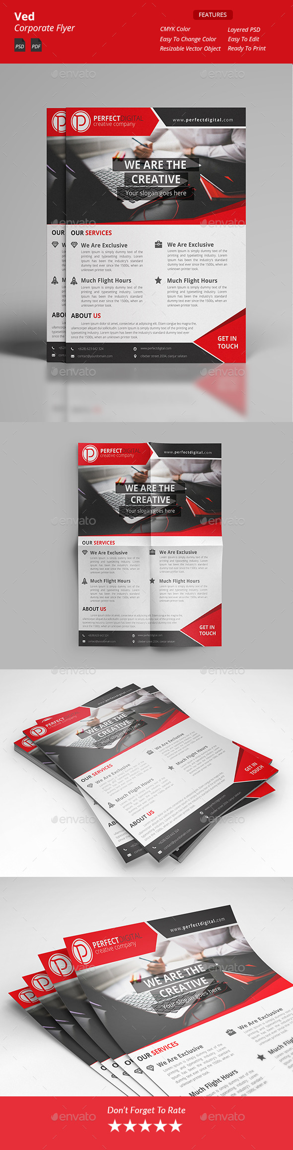 GraphicRiver Ved Corporate Flyers 11893452