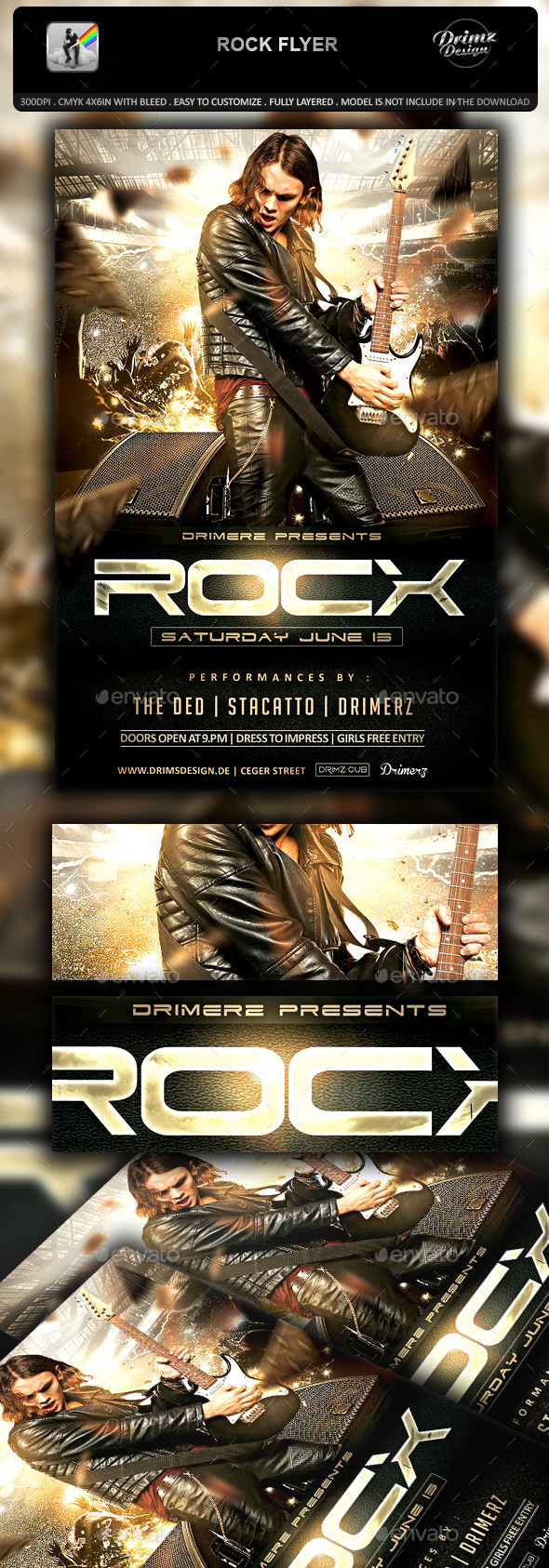 GraphicRiver Rock Flyer 11893458