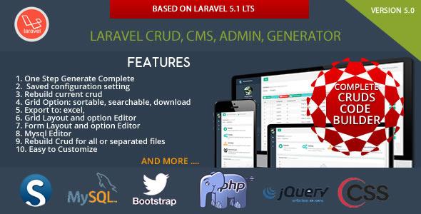 CodeCanyon Laravel CRUD CMS Sximo 5 LTS 11893533