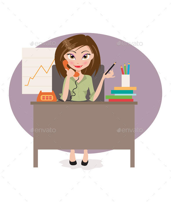 GraphicRiver Business Woman in Office 11893601