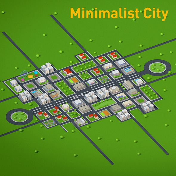 3DOcean Minimalistic City 11893668