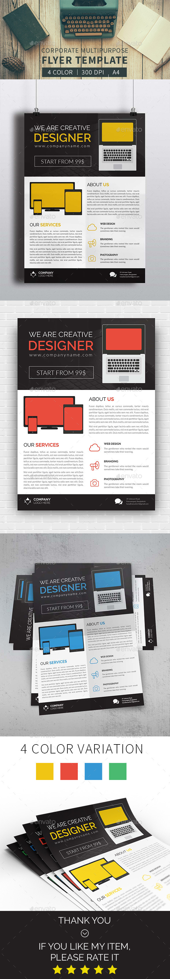 GraphicRiver Corporate Multipurpose Flyer 11893702