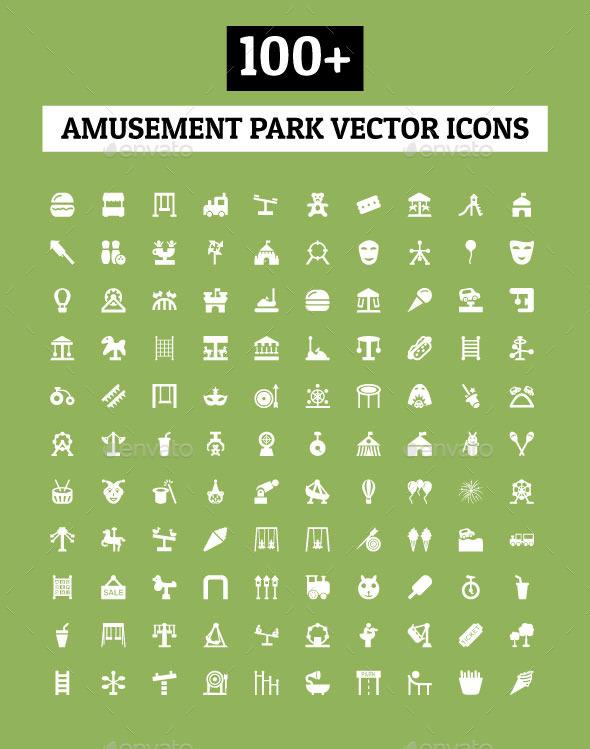 GraphicRiver 100& Amusement Park Vector Icons 11893729