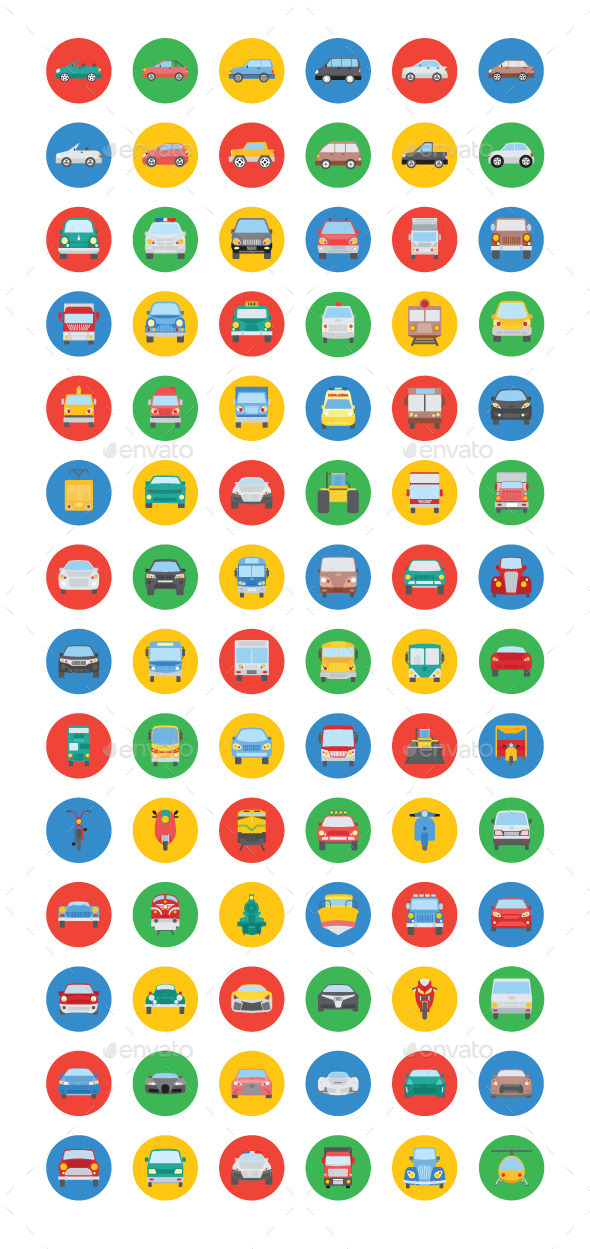 GraphicRiver 75& Transport Vector Icons 11893782
