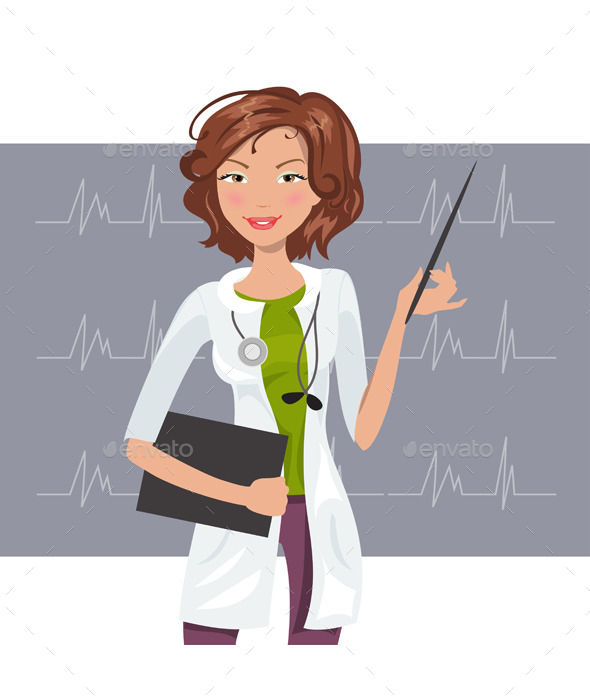 GraphicRiver Woman Cardiologist 11893784
