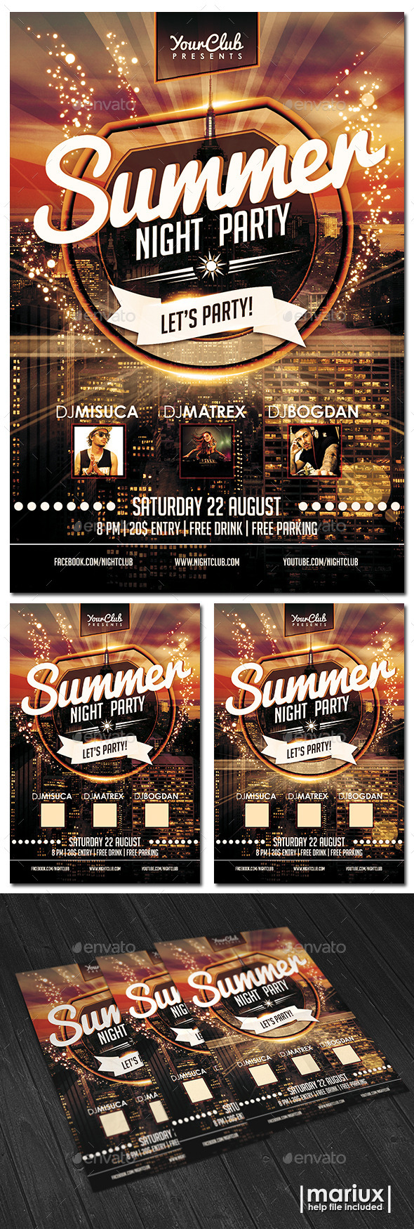 GraphicRiver Summer Night Party Flyer 11893802