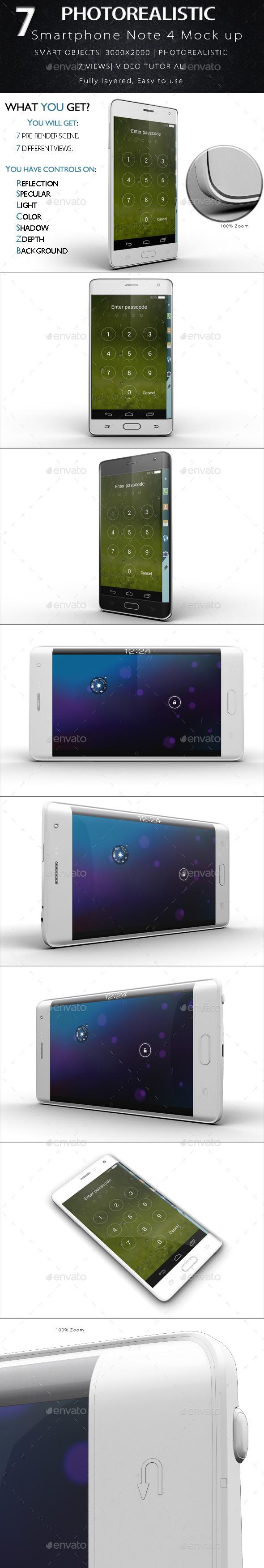 GraphicRiver Galaxy Note Edge Smartphone Mock Up 11893846