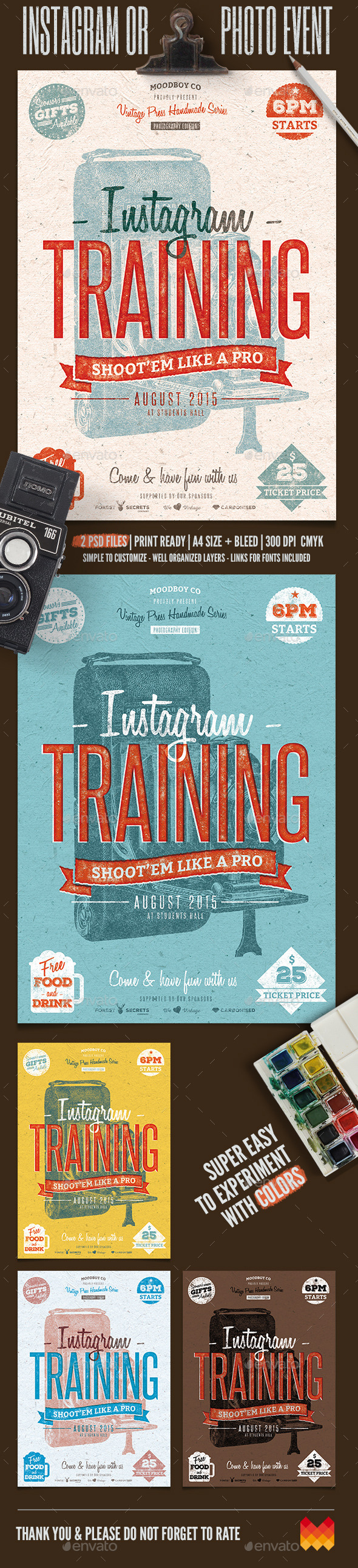 GraphicRiver Instagram Photography Event Flyer Poster 11893852