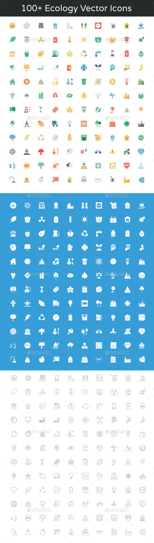 GraphicRiver 100& Ecology Vector Icons 11893861