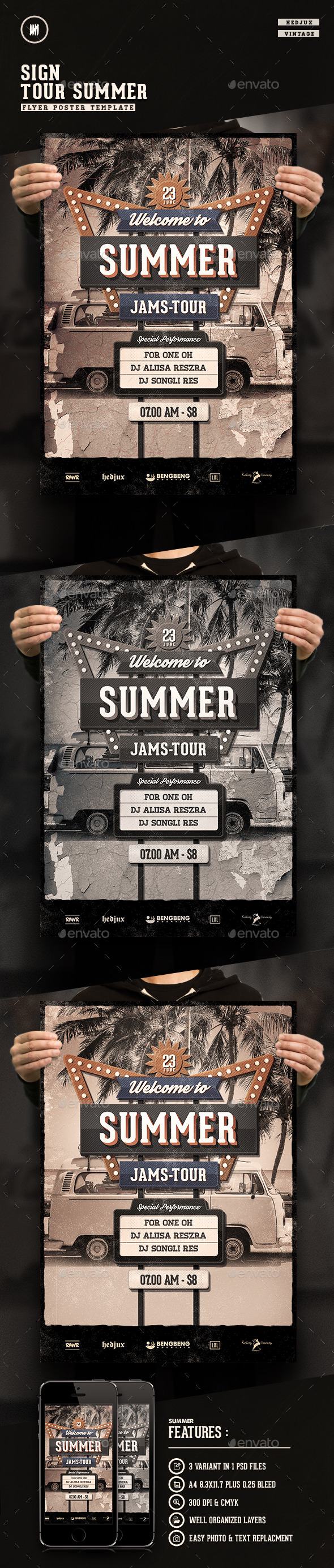GraphicRiver Summer Tour Sign Flyer 11893866