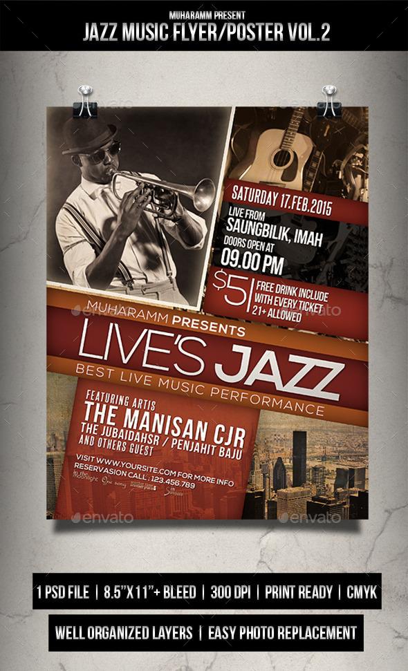 GraphicRiver Jazz Music Flyer Poster Vol.2 11893901