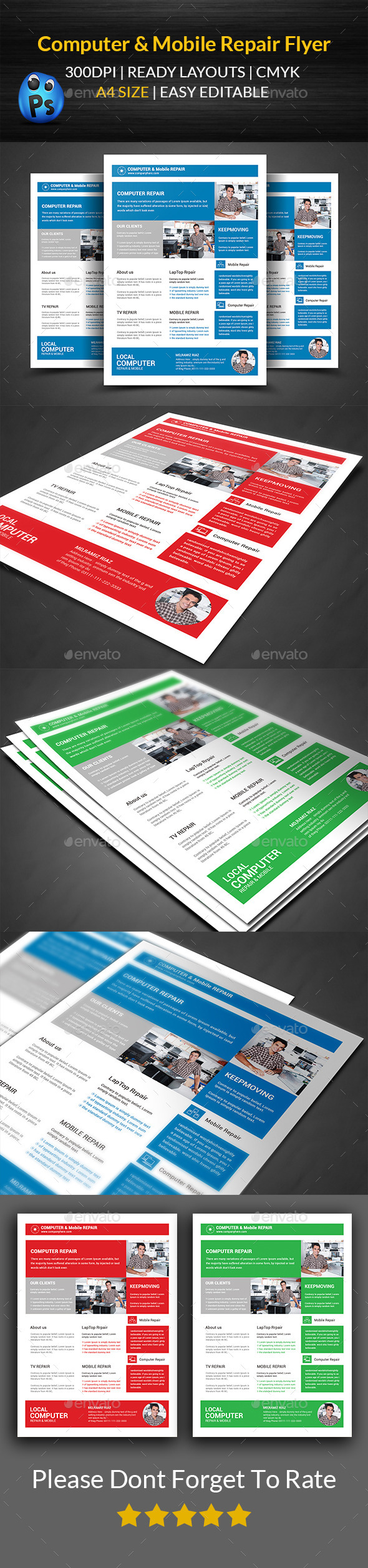 GraphicRiver Computer & Mobile Repair Flyer Template 11893928