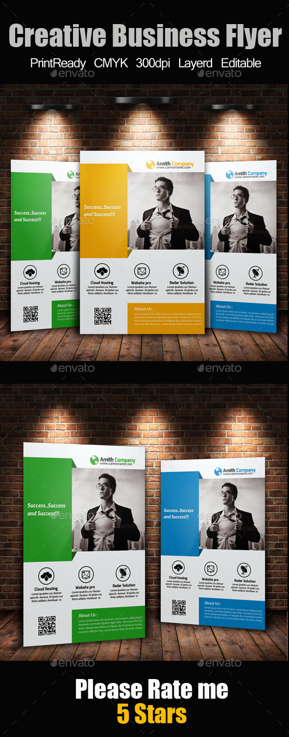 GraphicRiver A4 Business Flyer Template 11894083