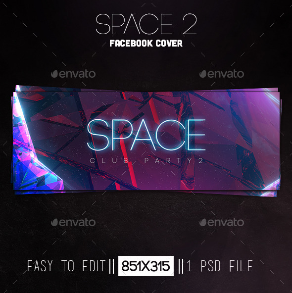 GraphicRiver Space 2 Facebook Cover 11894148