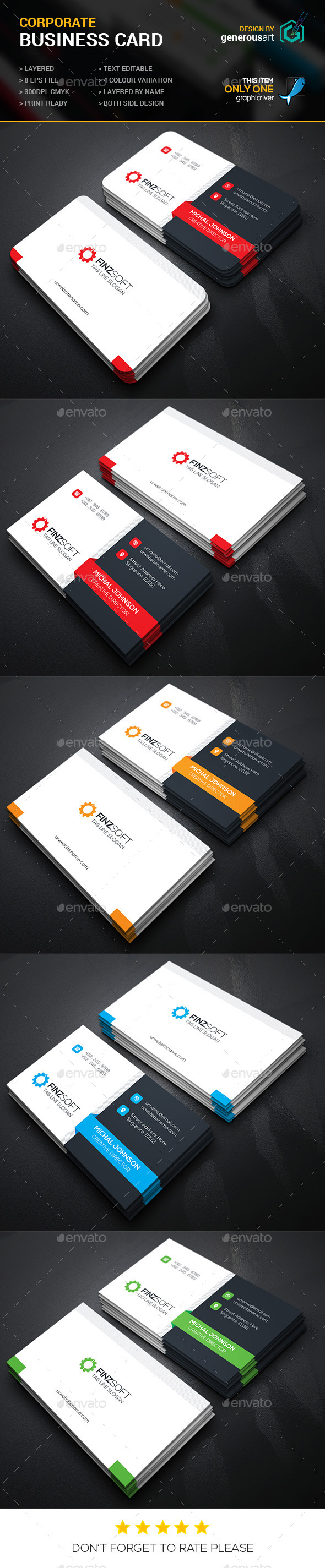 GraphicRiver Finzsoft Business Cards 11894303