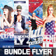 Bundle Flyer Independence Day July 4 - GraphicRiver Item for Sale