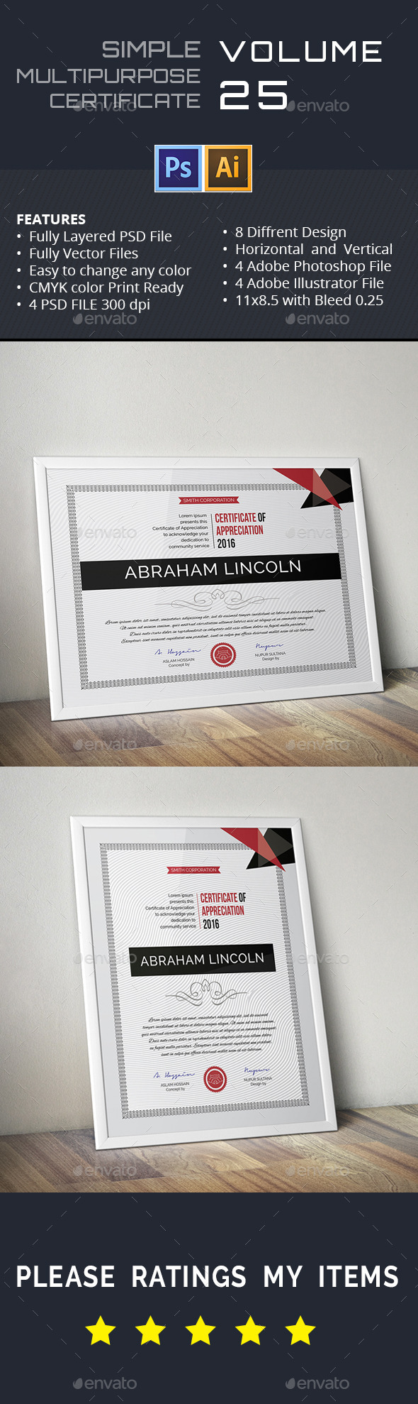 GraphicRiver Multipurpose Certificate GD025 11894754