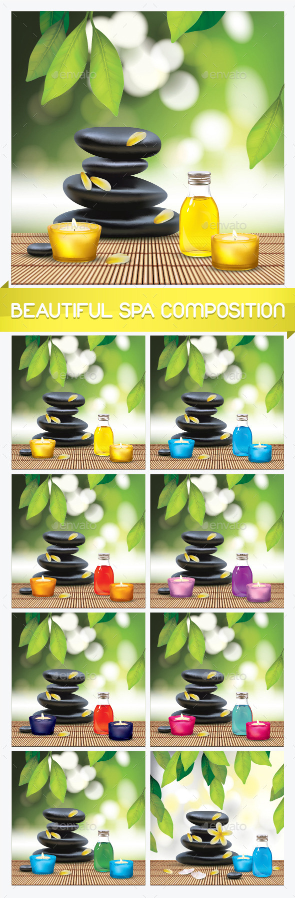 GraphicRiver Spa Composition with Zen Stones 11894809