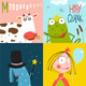 Colorful Cartoon Animals Greeting Cards - GraphicRiver Item for Sale