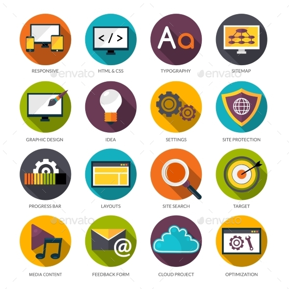 GraphicRiver Web Design Icons Set 11894929
