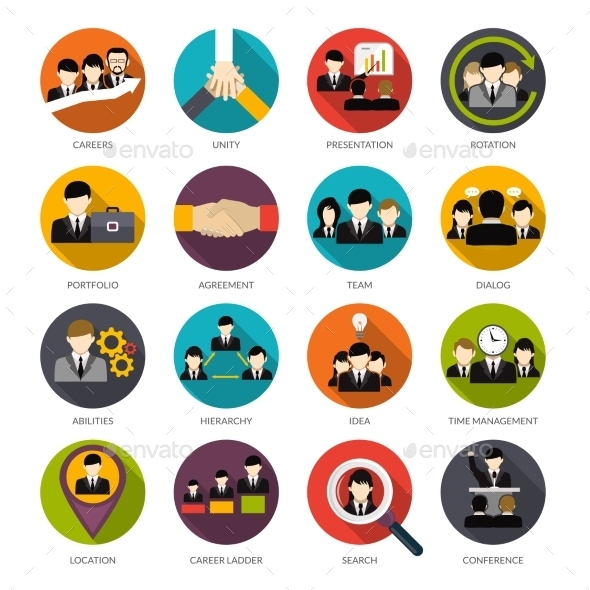 GraphicRiver Human Resources Icons Set 11894930