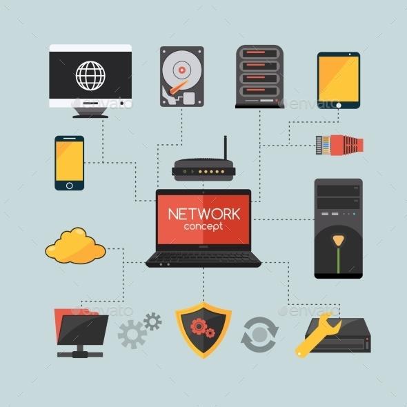 GraphicRiver Computer Network Concept 11894968