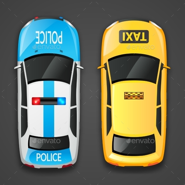 GraphicRiver Police and Taxi Cars 11894971