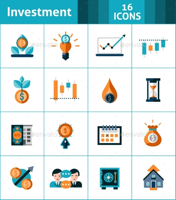 GraphicRiver Investment Icons Set 11895285