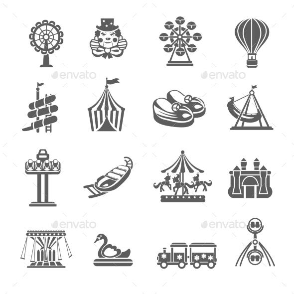 GraphicRiver Amusement Park Icons Set 11895290