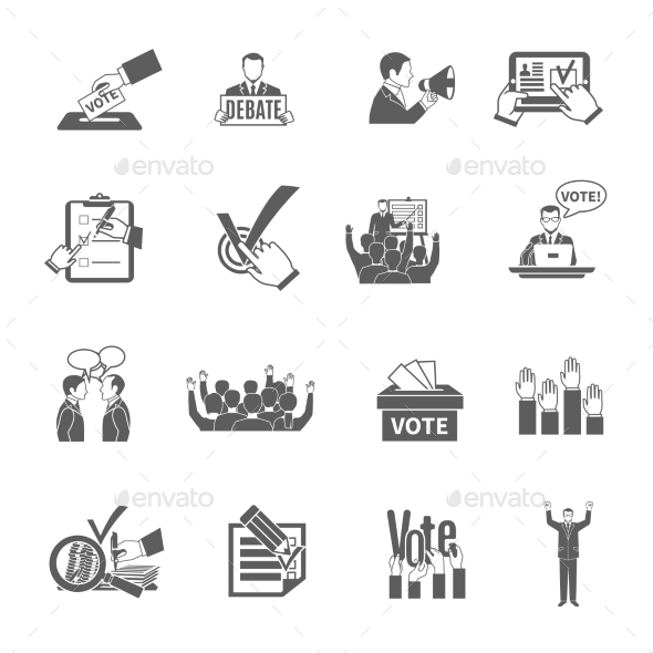 GraphicRiver Election Icons Set 11895292