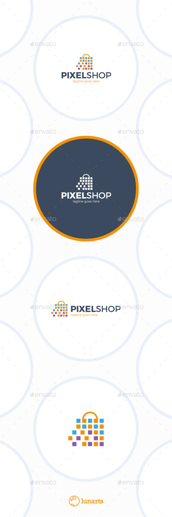 GraphicRiver Pixel Shopping Logo 11895300