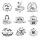 Summer Black White Labels Set - GraphicRiver Item for Sale