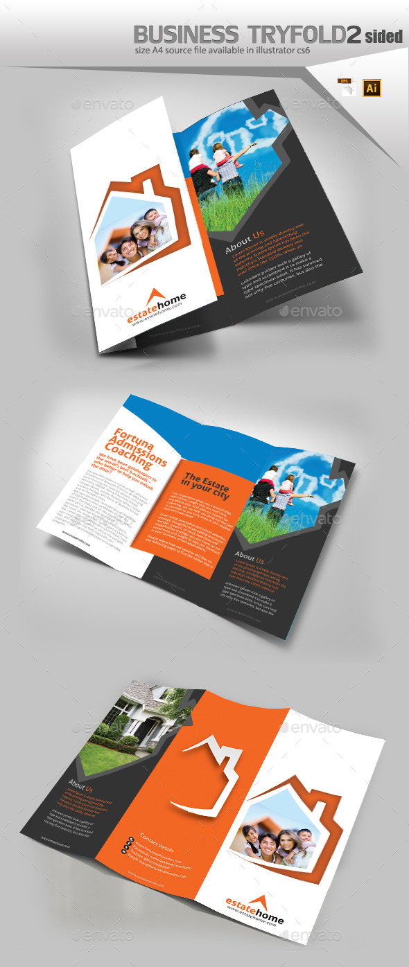 GraphicRiver Real Estate Three Fold Brochure 11886186