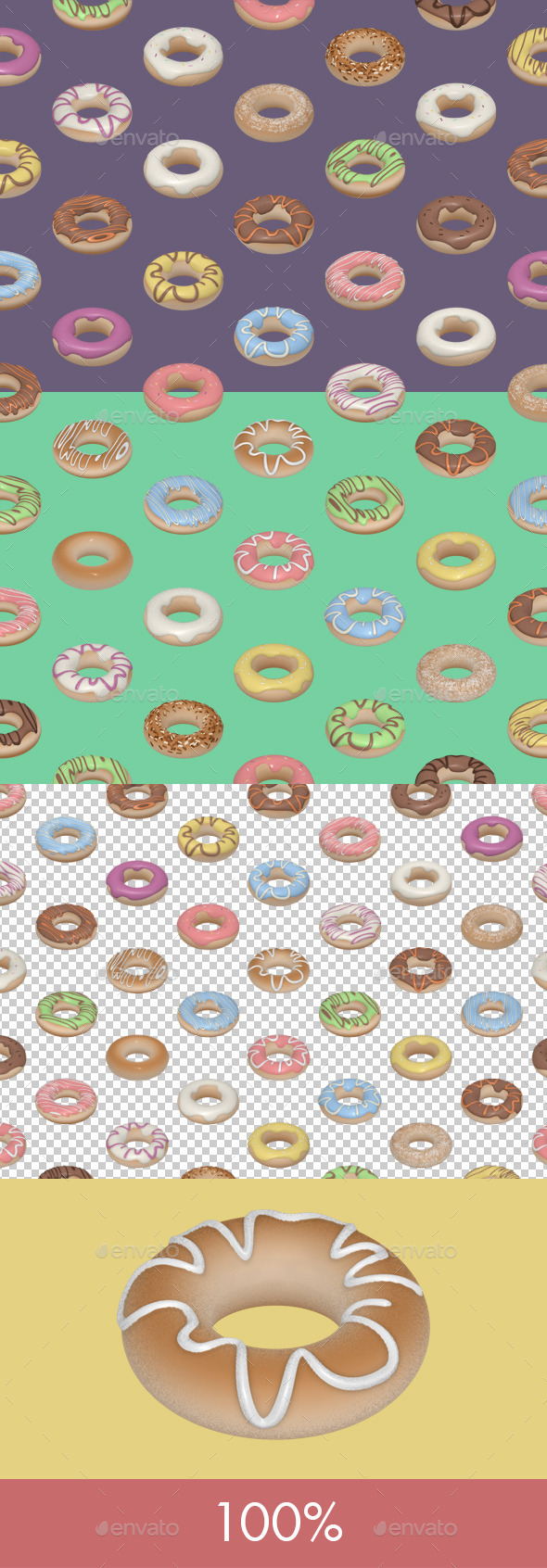 GraphicRiver Donuts Seamless Tile 11895451