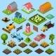 Farm Isometric Icons Set - GraphicRiver Item for Sale