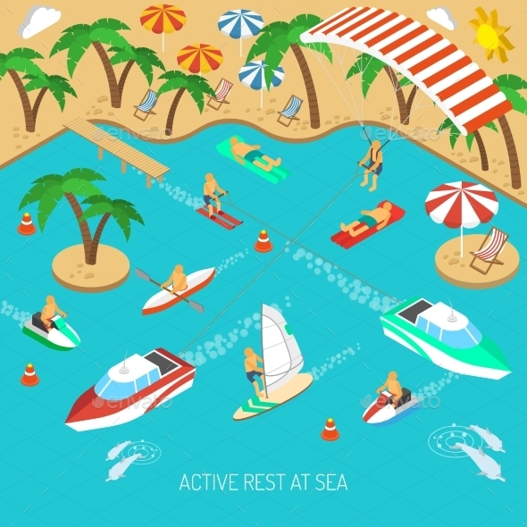 GraphicRiver Active Rest at Sea Concept 11895530