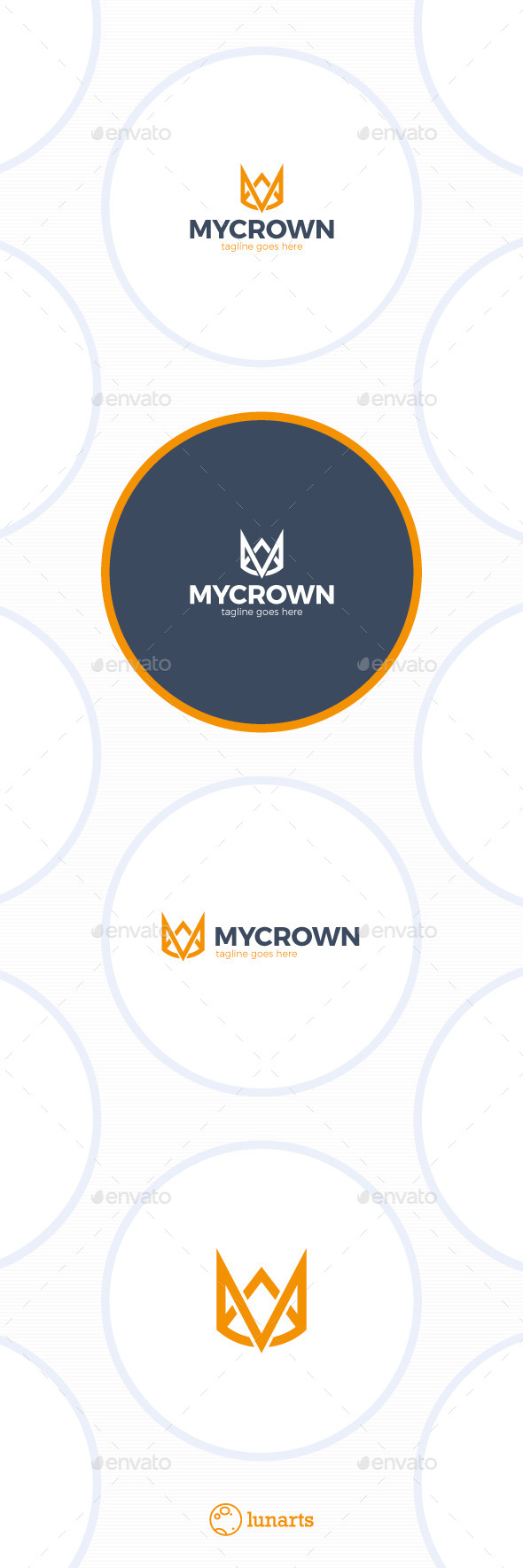 GraphicRiver Line Crown Logo Letter M 11895534