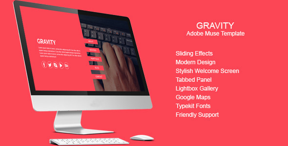 Gravity - Multi-purpose Muse Template