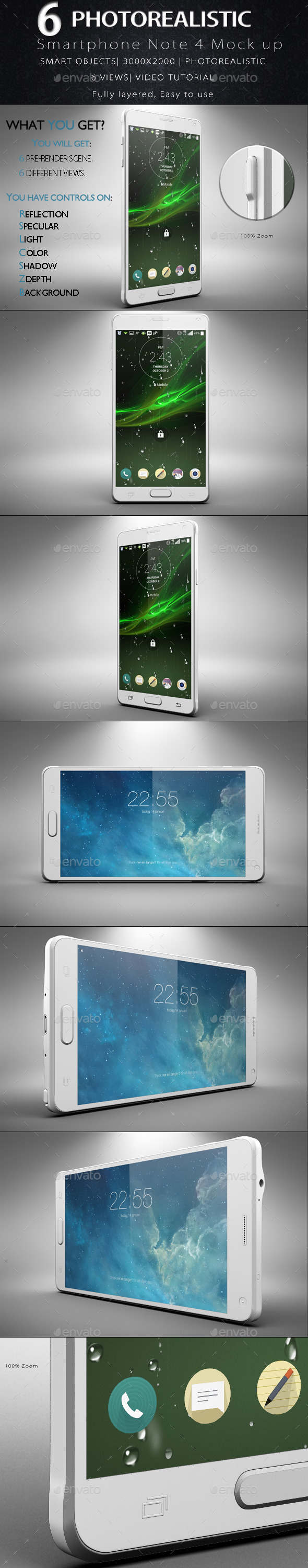 GraphicRiver Galaxy Note 4 Smartphone Mock Up 11895673